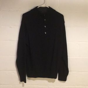 Black Docker 3/4 Zip Sweater